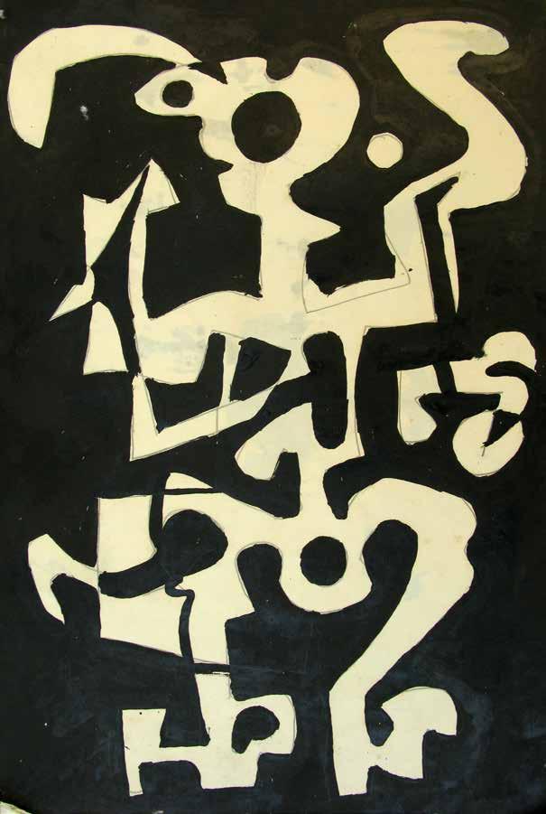 Kendal Hanna. Black White Sculptural Forms, 1994.